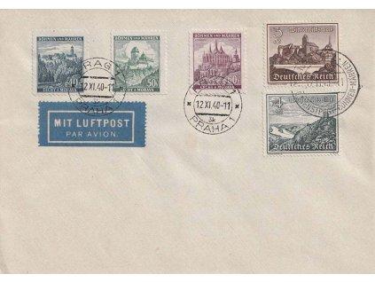 1941, DR Praha + Brno + Dienstspost, dopis, neprošlé