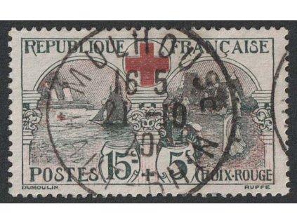 1918, 15 C Červený kříž, MiNr.136, razítkované