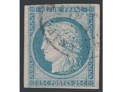 1849, 25 C Ceres, MiNr.4, razítkované