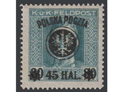 1918, 45H/80H Karel, MiNr.25II, * po nálepce