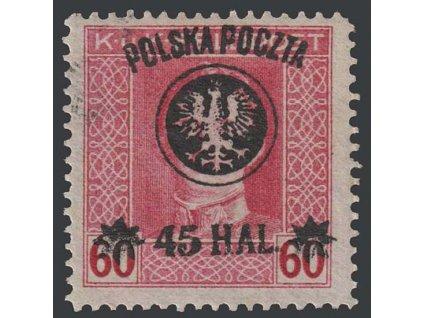 1918, 45H/60H Karel, MiNr.24, * po nálepce