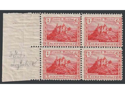 1921, 1 Fr Vianden, 4blok, MiNr.134, **