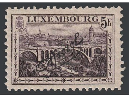 1922, 5 Fr služební,  MiNr.123, * po nálepce