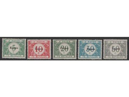 1920, Eupen, 5-50C doplatní série, MiNr.1-5, různé *