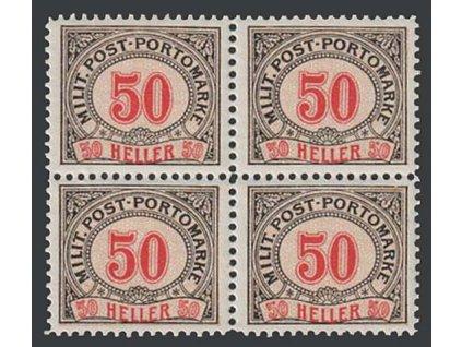 1904, 50 H doplatní, 4blok, MiNr.12, **