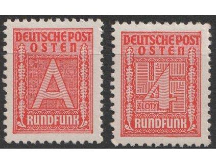 Generalgouvernement, 1940, 4-A série Rundfunkmarken, *