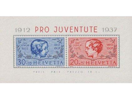 1937, 20-30C aršík, MiNr.Bl.3, **