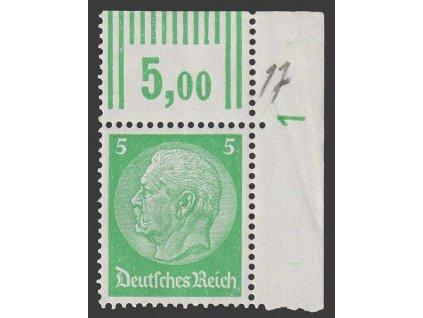 1933, 5 Pf Hindenburg, MiNr.515, **