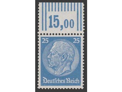 1933, 25 Pf Hindenburg, MiNr.522, **