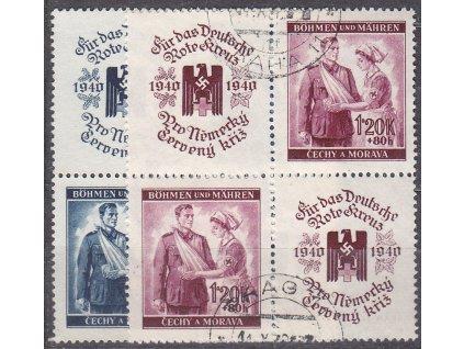 60h-1.20K ČK I, 4bloky, VK19, Nr.50-1, razítkované, ilustrační foto