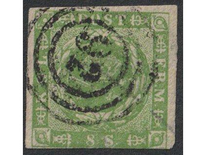 1858, 8 S Znak, MiNr.8, razítkované, lehké zeslabení