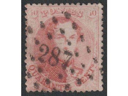 1863, 40 C Leopold, MiNr.13C, razítkované