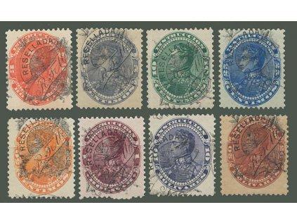 Venezuela, 1900, 3-20B Stempelmarken, MiNr.64-71, **/*