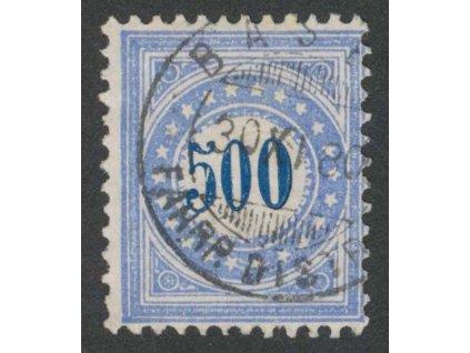 1878, 500 C doplatní, MiNr.9, razítkované