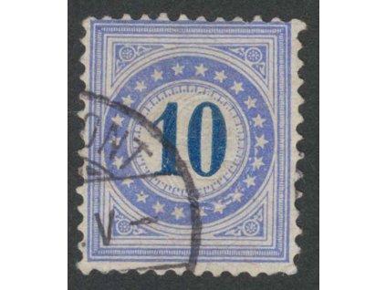 1882, 10 C doplatní, MiNr.10, razítkované