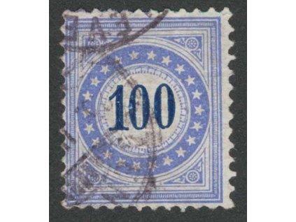 1882, 100 C doplatní, MiNr.13, razítkované, několik lomů