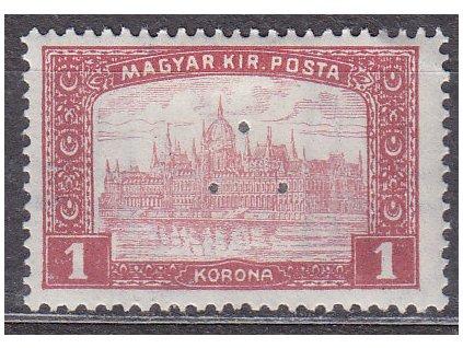 1K Parlament, perfin (3 průpichy), * po nálepce, zn. platná v ČSR, ilustrační foto