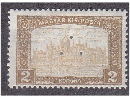 2K Parlament, perfin (3 průpichy), * po nálepce, zn. platná v ČSR, ilustrační foto