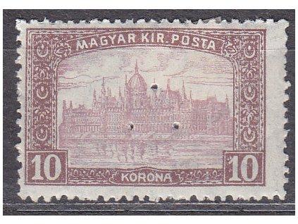 10K Parlament, perfin (3 průpichy), vysoký nominál!, * po nálepce, zn. platná v ČSR, ilustrační foto