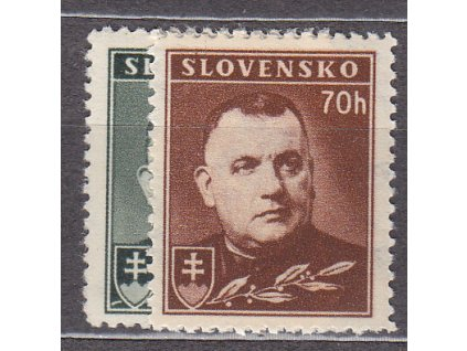 1939, 50-70h Tiso, série, Nr.43-4, **, ilustrační foto