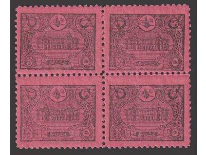 1913, 5 Pa doplatní, 4blok, MiNr.34, **