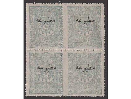 1894, 10 Pa s přetiskem, 4blok, MiNr.79, **