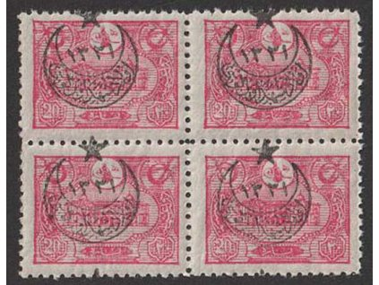 1915, 20 Pa s přetiskem, 4blok, MiNr.375, **