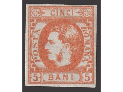 1869, 5 B Karel, MiNr.21, * po nálepce