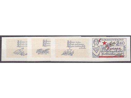1977, 60h-2.40Kčs Evropa, nezoubkované, levé kupony, Nr.2273-5B, **