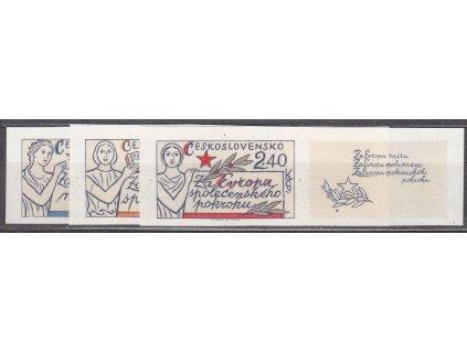 1977, 60h-2.40Kčs Evropa, nezoubkované, pravé kupony, Nr.2273-5B, **