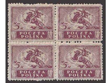1919, 5 M Výjev, 4blok, MiNr.114, ** , malé vynechávky lepu