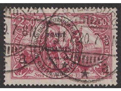 Allenstein, 1920, 2.50 M růžová, MiNr.27, razítkované, dv