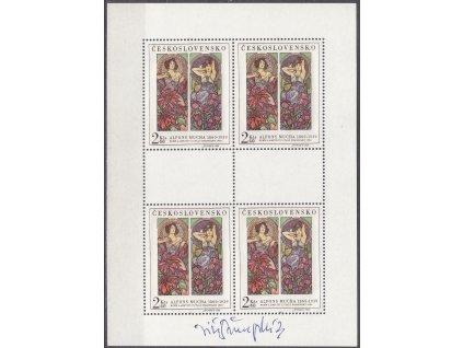 Švengsbír, podpis na PL A.Mucha z roku 1969, **