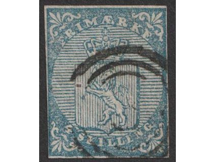 1855, 4 Sk Znak, MiNr.1I, razítkované
