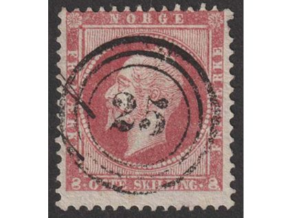 1856, 8 Sk Oskar, MiNr.5, razítkované