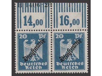 1924, 20 Pf služební, 2páska s HAN, MiNr.108, **/*