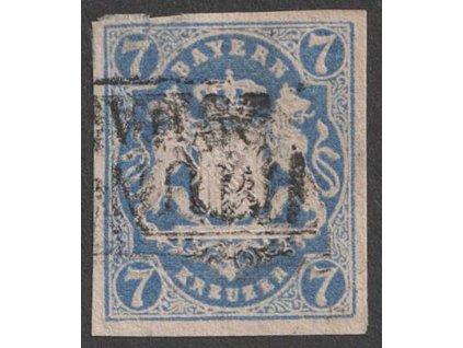 Bayern, 1868, 7 Kr Znak, MiNr.21, razítkované