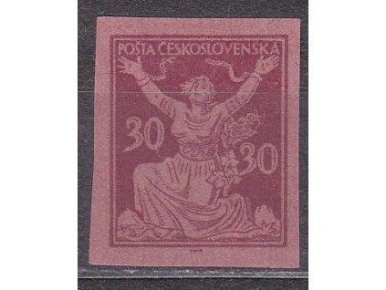 30h fialová, zoubkovaný ZT na růžovém  papíru bez lepu, Nr.153