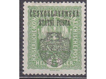 Pražský přetisk II, 5h Koruna, zk.Gilbert, Nr.RV23, * po nálepce