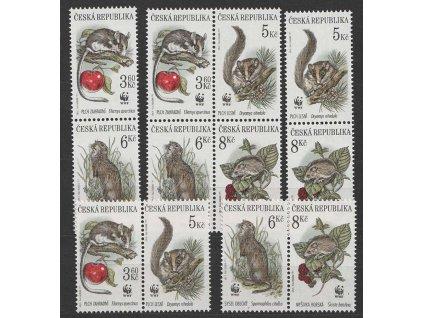 1996, 3.60-8Kč Chránění savci, sestava spojek, **