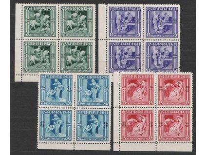 1936, 5g-1S série Winterhilfe, 4bloky, MiNr.628-31, **