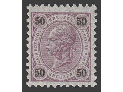 1890, 50 Kr Franc Josef, K 10, MiNr.60, **