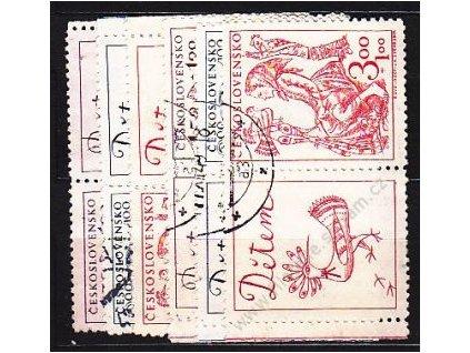 1948, 1.50-3Kčs Dětem, L+P kupon, Nr.494-6, raz.