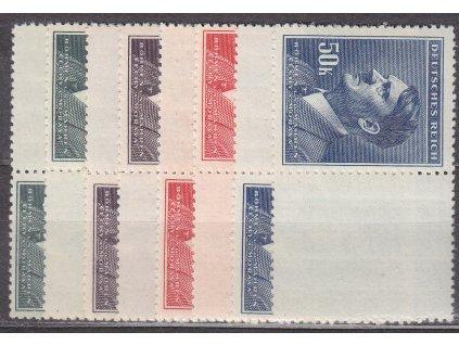 10-50K Hitler, L+P kupony bez malého okraje, Nr.96-9, **