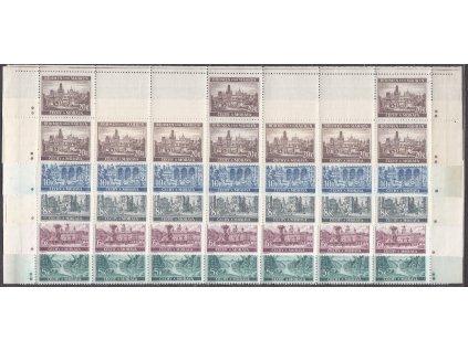1940, 5-20K Krajinky, horní pásy - varianta křížek, Nr.45-9, **
