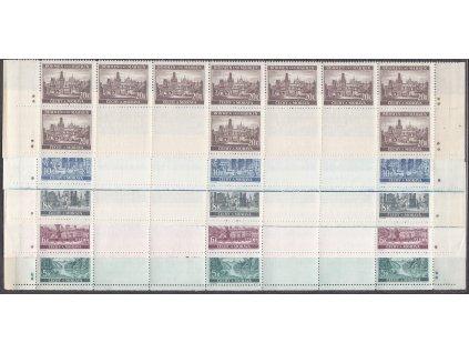 1940, 5-20K Krajinky, dolní pásy - varianta křížek, Nr.45-9, **