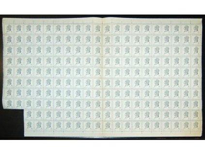 1948, 8Kčs Beneš, 196 ks arch, přeložený, **