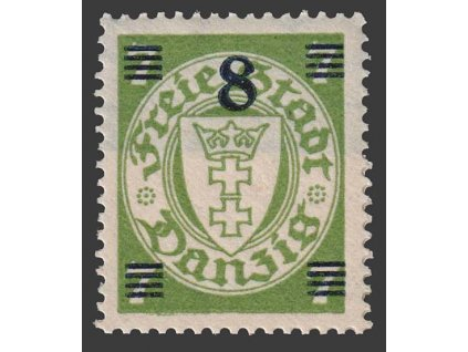 Poštovní známka, Danzig, 1934, 8/7Pf Znak, MiNr.241, **