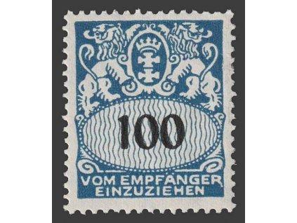 Danzig, 1938, 100 Pf doplatní, MiNr.47, **