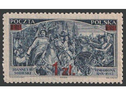 1934, 1 Zl / 1.20 Zl modrá, typ I, MiNr.293, **